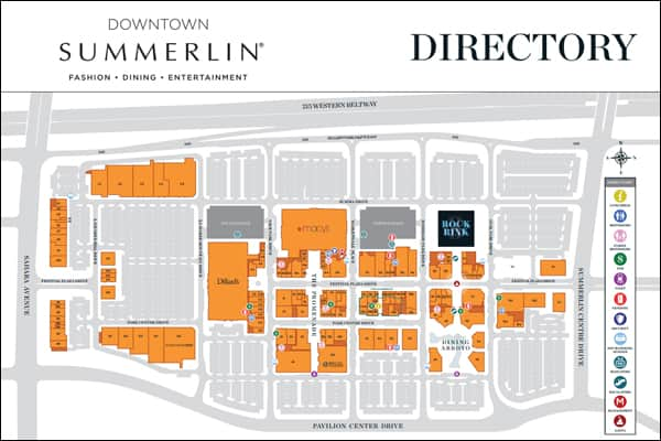 Map Of Downtown Summerlin World Map 07