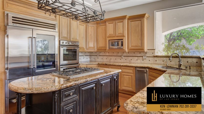 kitchen at Las Vegas Estate Home for Sale, 9605 Verlaine Court