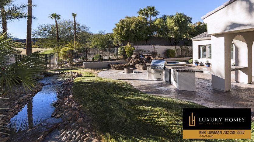 backyard at 3181 Turtle Head Peak Dr, Las Vegas, NV 89135