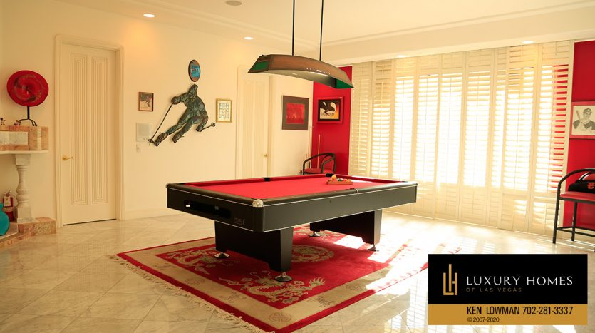 Game room at Spanish Trail Country Club Home for Sale, 76 Innisbrook