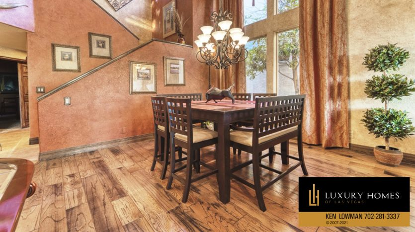 compact dining area at Canyon Gate Home for Sale, 8941 Diamond Falls Dr
