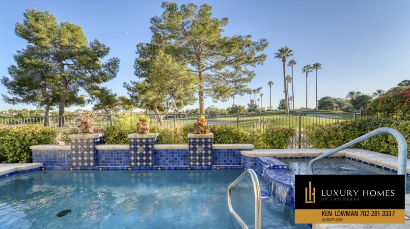 pool view at Canyon Gate Home for Sale, 8941 Diamond Falls Dr