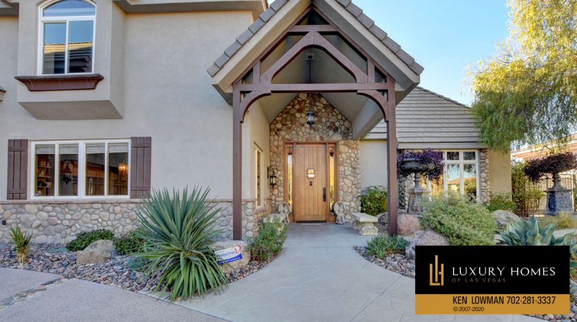 entrance at Seven Hills Home for Sale, 1355 Opal Valley St