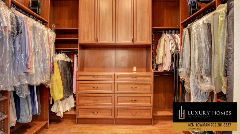 walkin closets at Seven Hills Home for Sale, 1355 Opal Valley St