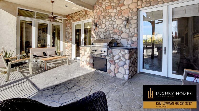 BBQ area at Seven Hills Home for Sale, 1355 Opal Valley St