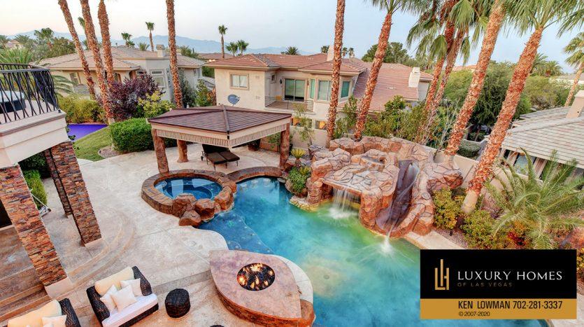 Pool view at , 9501 Balatta Canyon Ct, Las Vegas