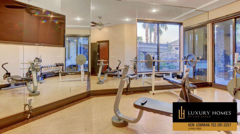 home gym at , 9501 Balatta Canyon Ct, Las Vegas