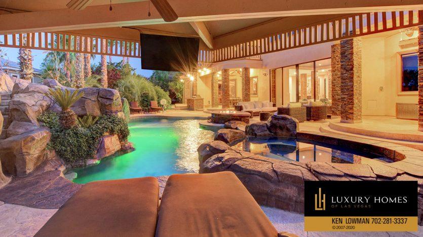 relaxing pool at , 9501 Balatta Canyon Ct, Las Vegas