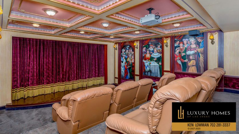 home theatre, Canyon Gate Home for Sale, 8608 Scarsdale Dr