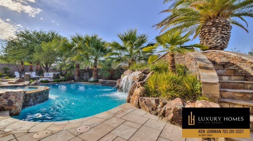 custom pool, 9742 Amador Ranch Ave, Las Vegas, home for sale