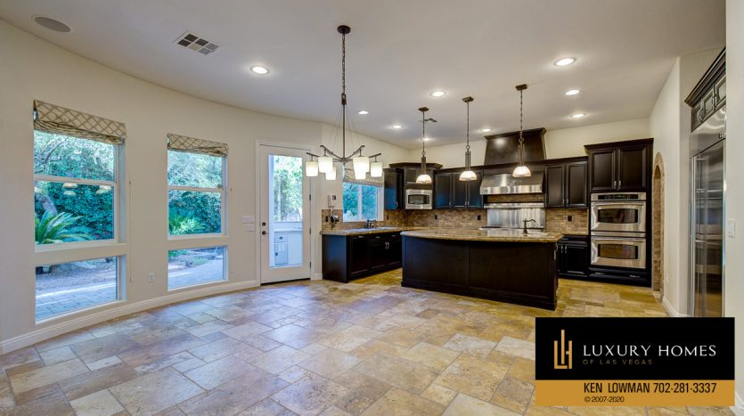 Kitchen view, Summerlin - Barrington Home for Sale, 11554 Trevi Fountain Ave