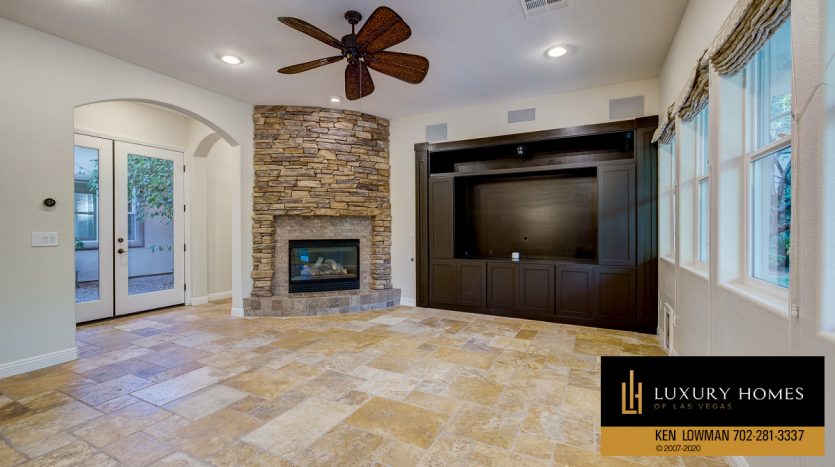 Theatre room, Summerlin - Barrington Home for Sale, 11554 Trevi Fountain Ave