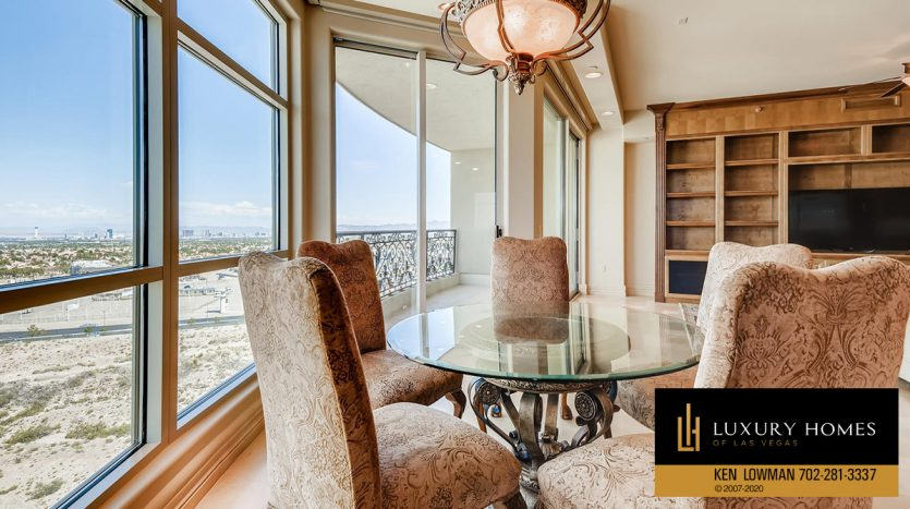 breakfast table at One Queensridge Place Home for Sale, 9103 Alta Dr UNIT 1007