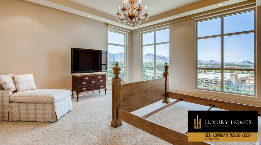 bedroom at One Queensridge Place Home for Sale, 9103 Alta Dr UNIT 1007