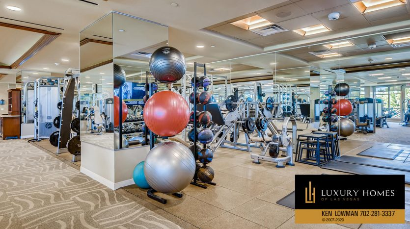 gym at One Queensridge Place Home for Sale, 9103 Alta Dr