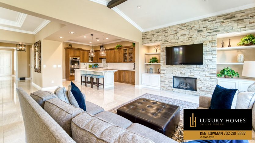 Living area with kitchen at Home for Sale, 11494 Glowing Sunset Ln