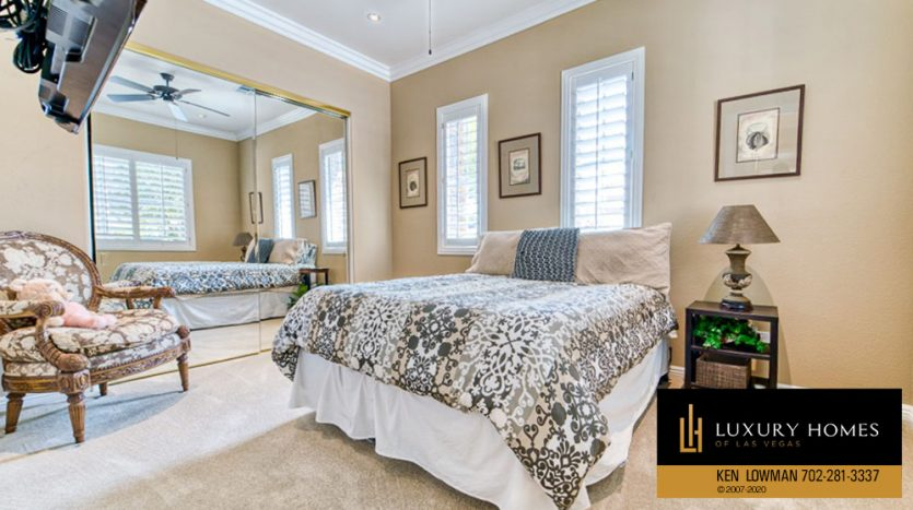 Bedroom at Red Rock Country Club Home for Sale, 11494 Glowing Sunset Ln