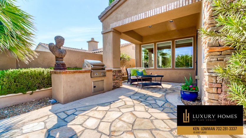 BBQ counter at Red Rock Country Club Home for Sale, 11494 Glowing Sunset Ln