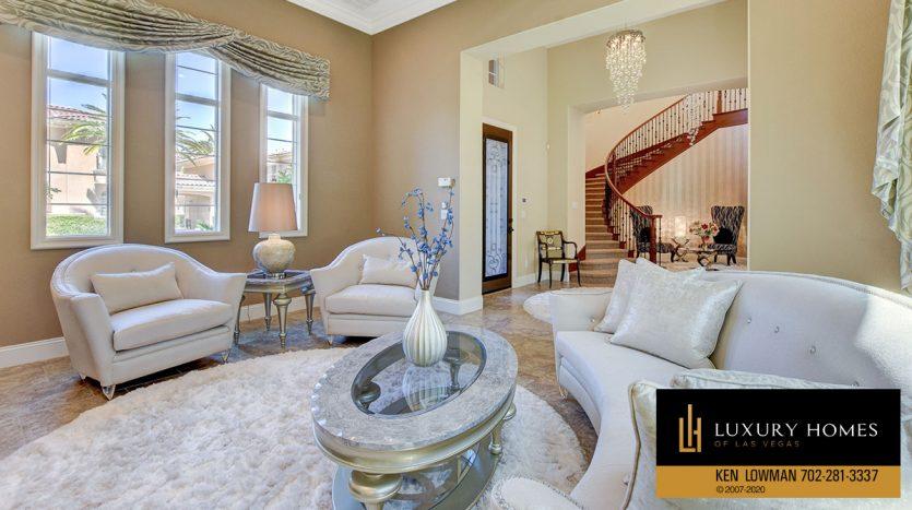 living room at 3863 Glasgow Green Dr, Las Vegas, NV 89141