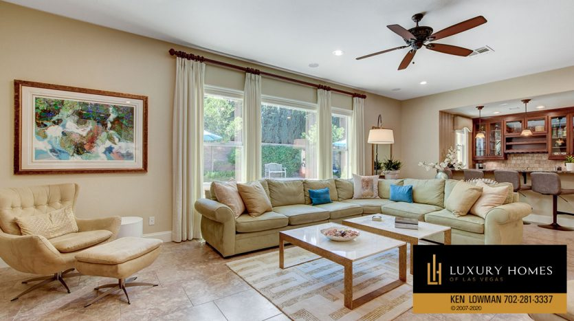 living area at 3863 Glasgow Green Dr, Las Vegas, NV 89141