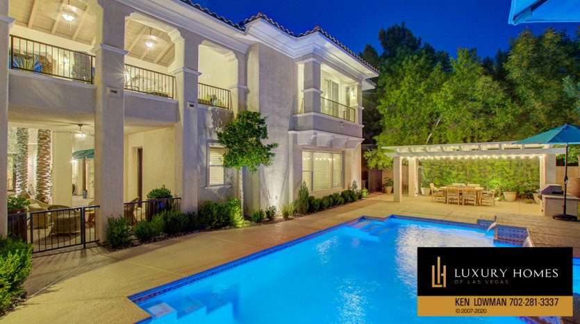 poolside view at Southern Highlands Home for Sale, 3863 Glasgow Green Dr