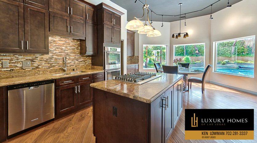 kitchen island counter at 1501 Golden Oak Dr, Las Vegas, NV 89117