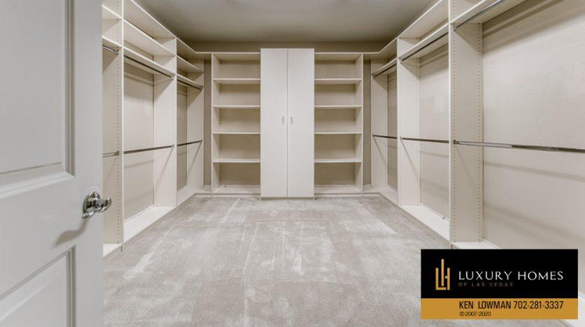 walkin closets dress area at Summerlin (Altura) Home for Sale, 12030 Vento Forte Av