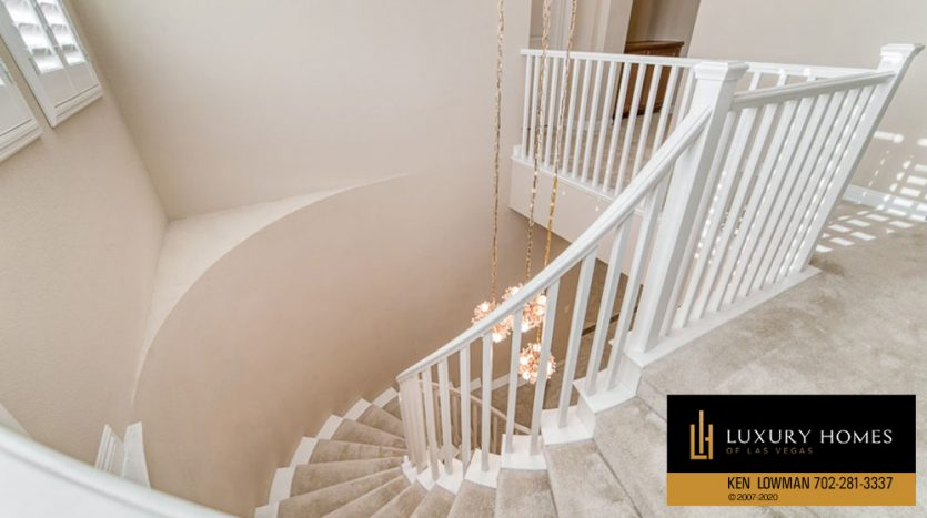 stairs at Summerlin (Altura) Home for Sale, 12030 Vento Forte Av