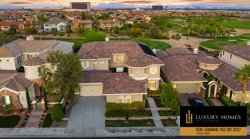 drone view of Red Rock Country Club Home for Sale, 2104 Orchard Mist St