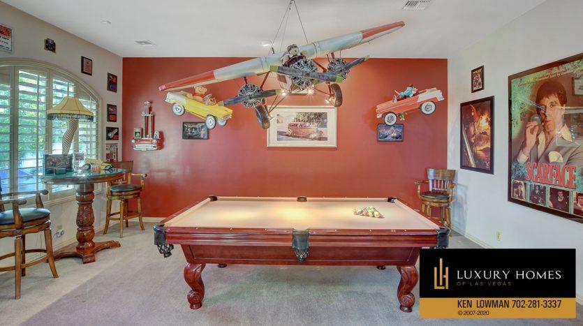 Game room, 3580 Five Pennies Lane, Las Vegas