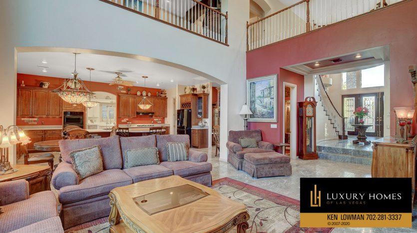 Living area, 3580 Five Pennies Lane, Las Vegas