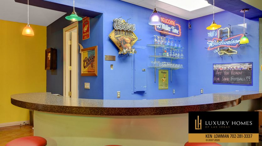 bar area at South East Las Vegas Home for Sale, 3580 Five Pennies Lane