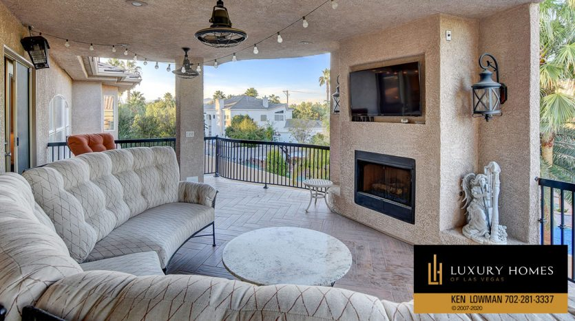 fireplace at South East Las Vegas Home for Sale, 3580 Five Pennies Lane