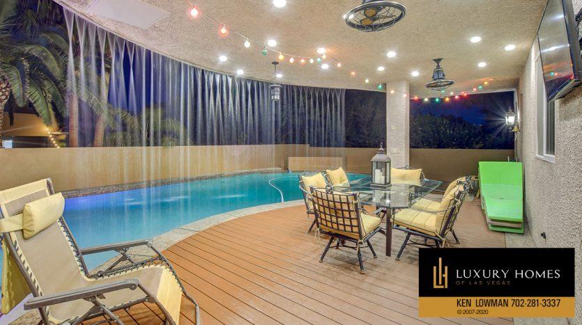 poolside, South East Las Vegas Home for Sale, 3580 Five Pennies Lane