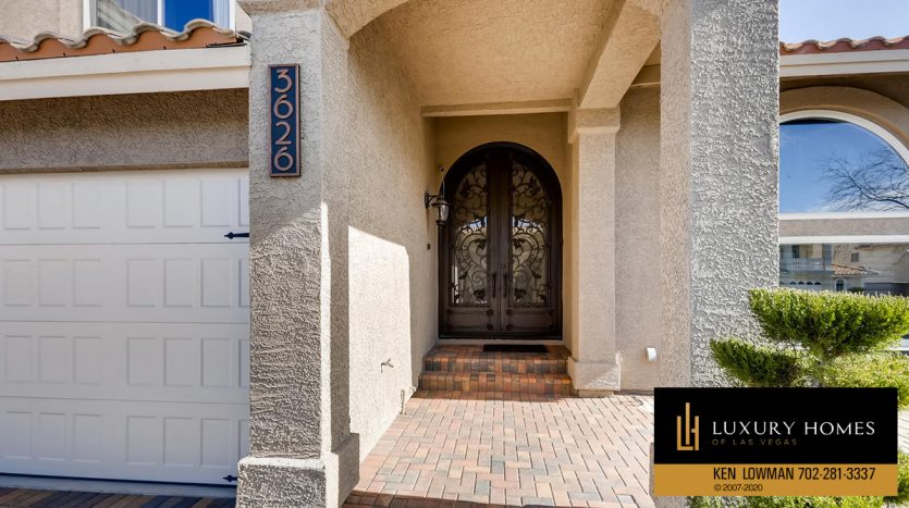 entrance at South West Las Vegas Home for Sale, 3626 Dutch Valley Drive