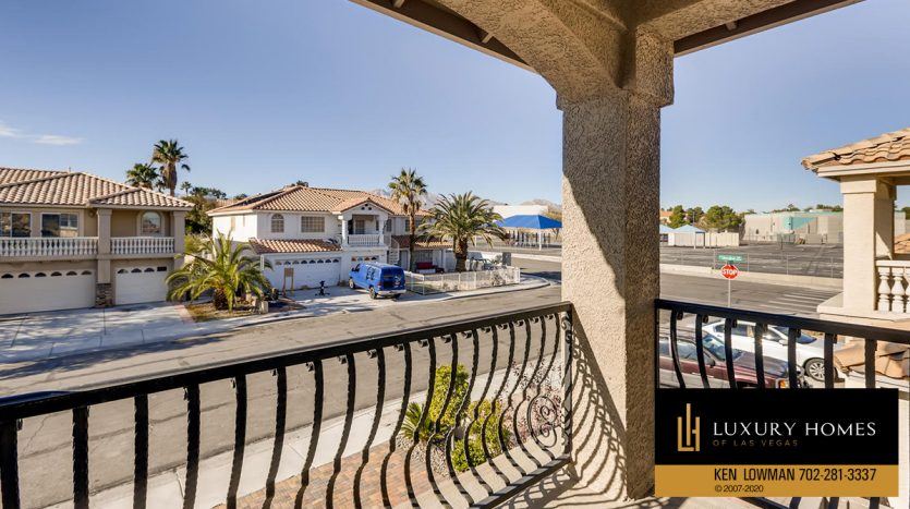 balcony view, South West Las Vegas Home for Sale, 3626 Dutch Valley Drive