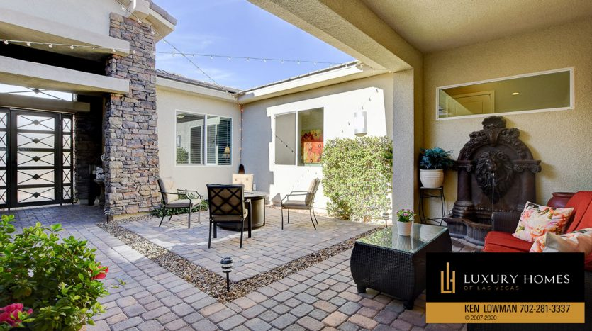 Open air sitout at 8224 Sweetwater Creek Way, Las Vegas, NV 89113