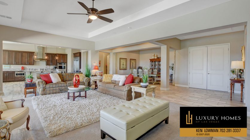 living room at 8224 Sweetwater Creek Way, Las Vegas, NV 89113