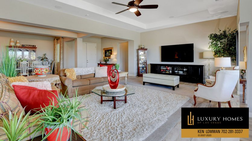 large living room at 8224 Sweetwater Creek Way, Las Vegas, NV 89113