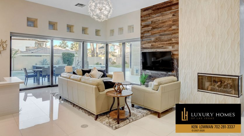 fireplace at Canyon Fairways Home for Sale, 500 Royalton Dr