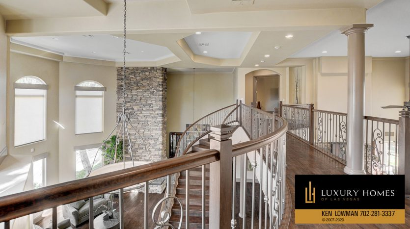 stairway at South West – Casablanca Estates Home for Sale, 2000 Bogart Ct