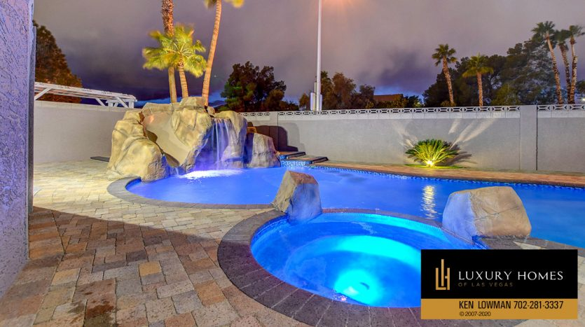 pool at Southwest Home for Sale, 6480 Bristlecone Cr