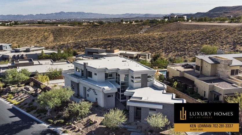 drone view of The Ridges Home for Sale, 31 Drifting Shadow Way, Las Vegas, NV 89135
