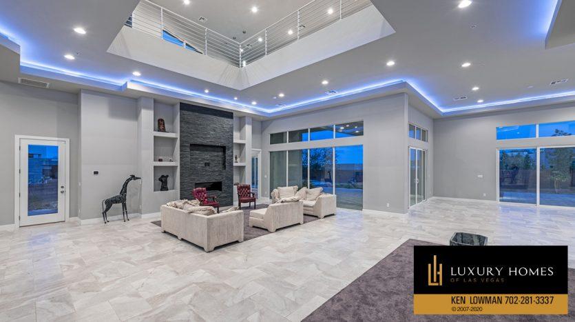 living room, The Ridges Home for Sale, 31 Drifting Shadow Way, Las Vegas, NV 89135