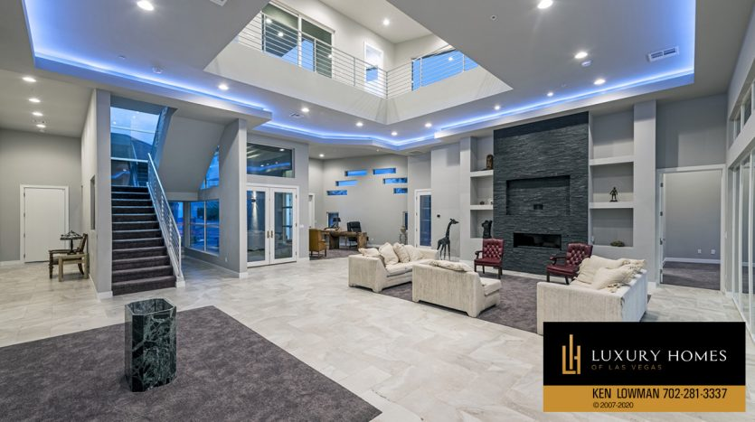 living area at The Ridges Home for Sale, 31 Drifting Shadow Way, Las Vegas, NV 89135