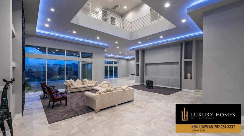 wide living room at The Ridges Home for Sale, 31 Drifting Shadow Way, Las Vegas, NV 89135
