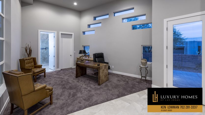 office area at The Ridges Home for Sale, 31 Drifting Shadow Way, Las Vegas, NV 89135