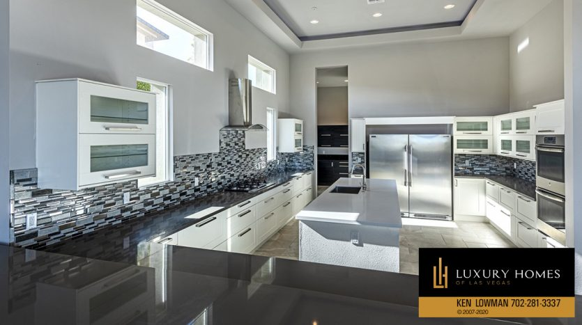 large kitchen area at The Ridges Home for Sale, 31 Drifting Shadow Way, Las Vegas, NV 89135
