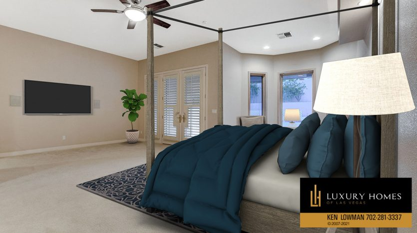 virtually staged bedroom at Canyon Fairways Home for Sale, 701 Canyon Greens Dr