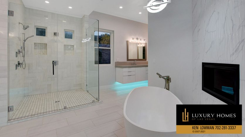 shower area at Seven Hills Home for Sale, 1380 Ruby Sky Ct